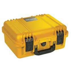 Peli Protector 1500 Case finished in yellow with pick and pluck foam - Internal measurements 43.5(L)x29(W)x15.4cm(D)
