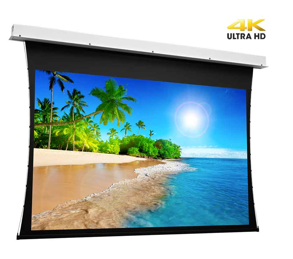 Projecta Tensioned Descender Electrol 173 X 300 cm (16:9) Complete Screen with UHD 4K Fabric 0.9 Gain and RF remote control (Projecta 10103754)